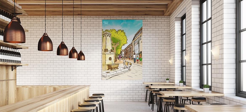 Kunstwerke Leinwand Bild Gemälde Restaurant