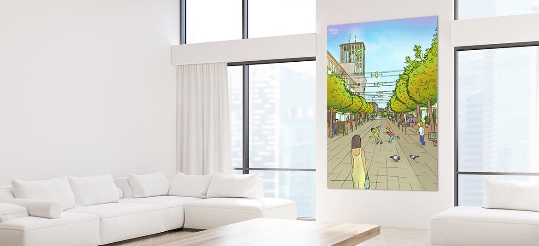 Kunstwerke Leinwand Bild Gemälde Büro