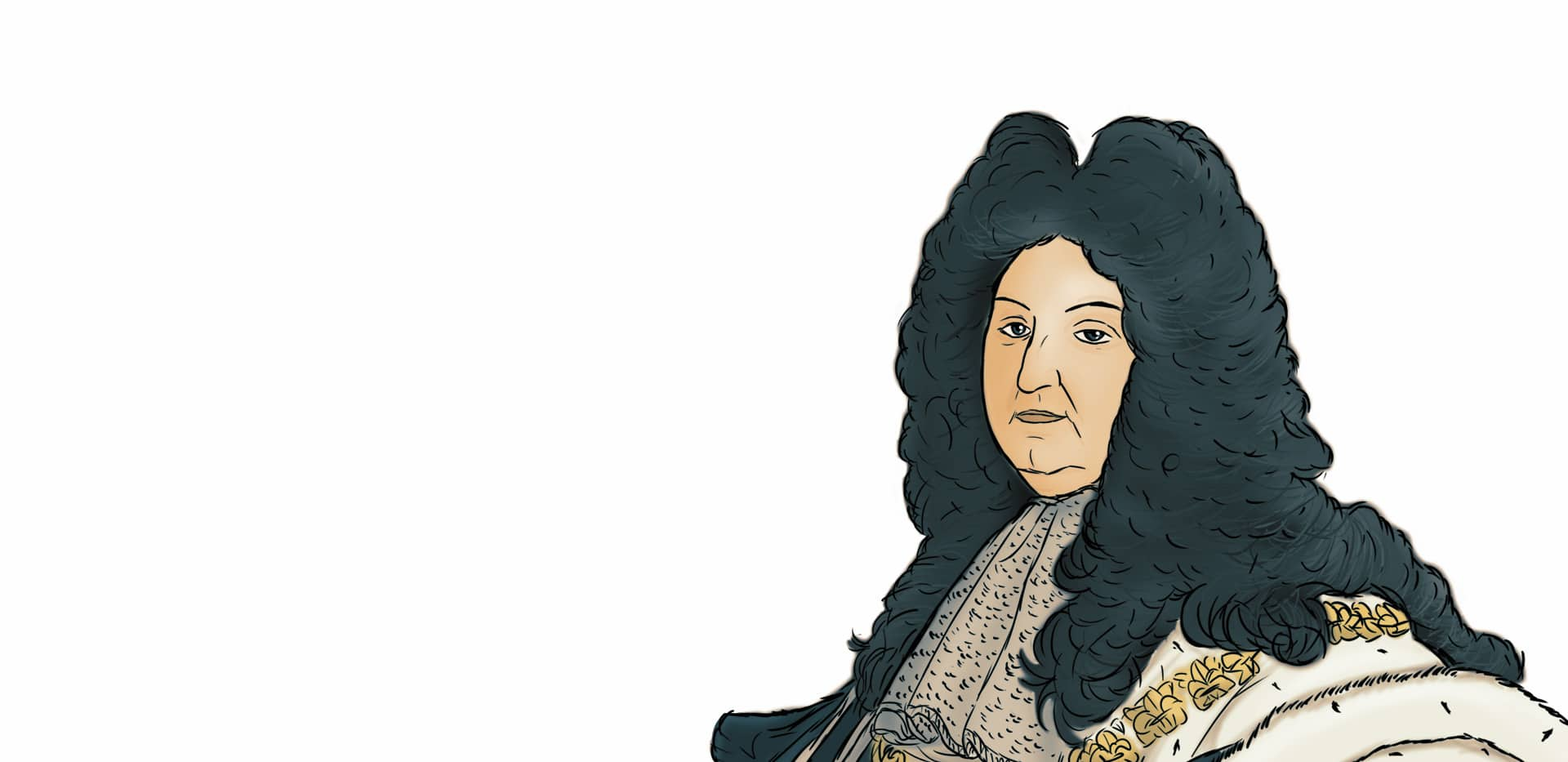 Zeichnung Ludwig XIV