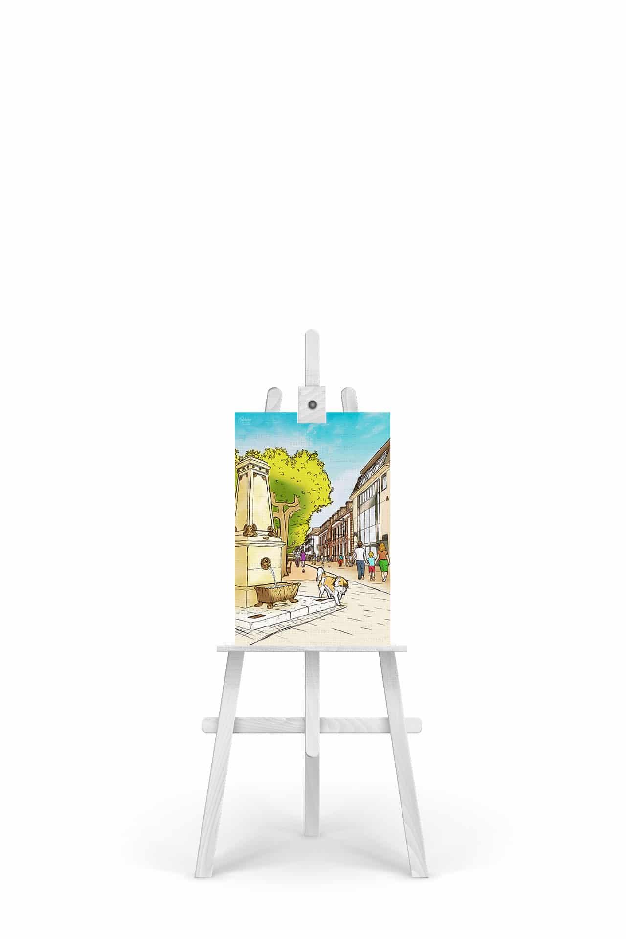 Gemälde Saarlouis Großer Markt