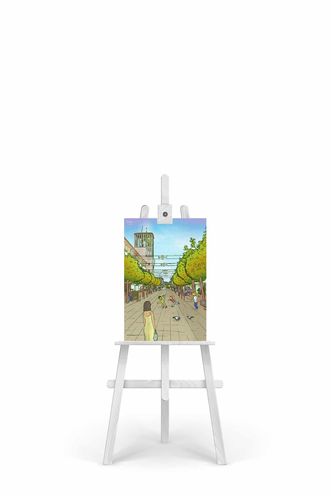 Gemälde Saarlouis Deutsche Straße