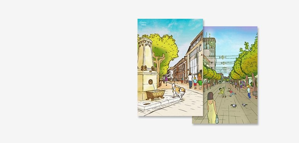 Saarlouis Innenstadt Gemälde