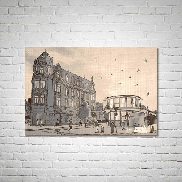 Der Busbahnhof Sepia-Edition