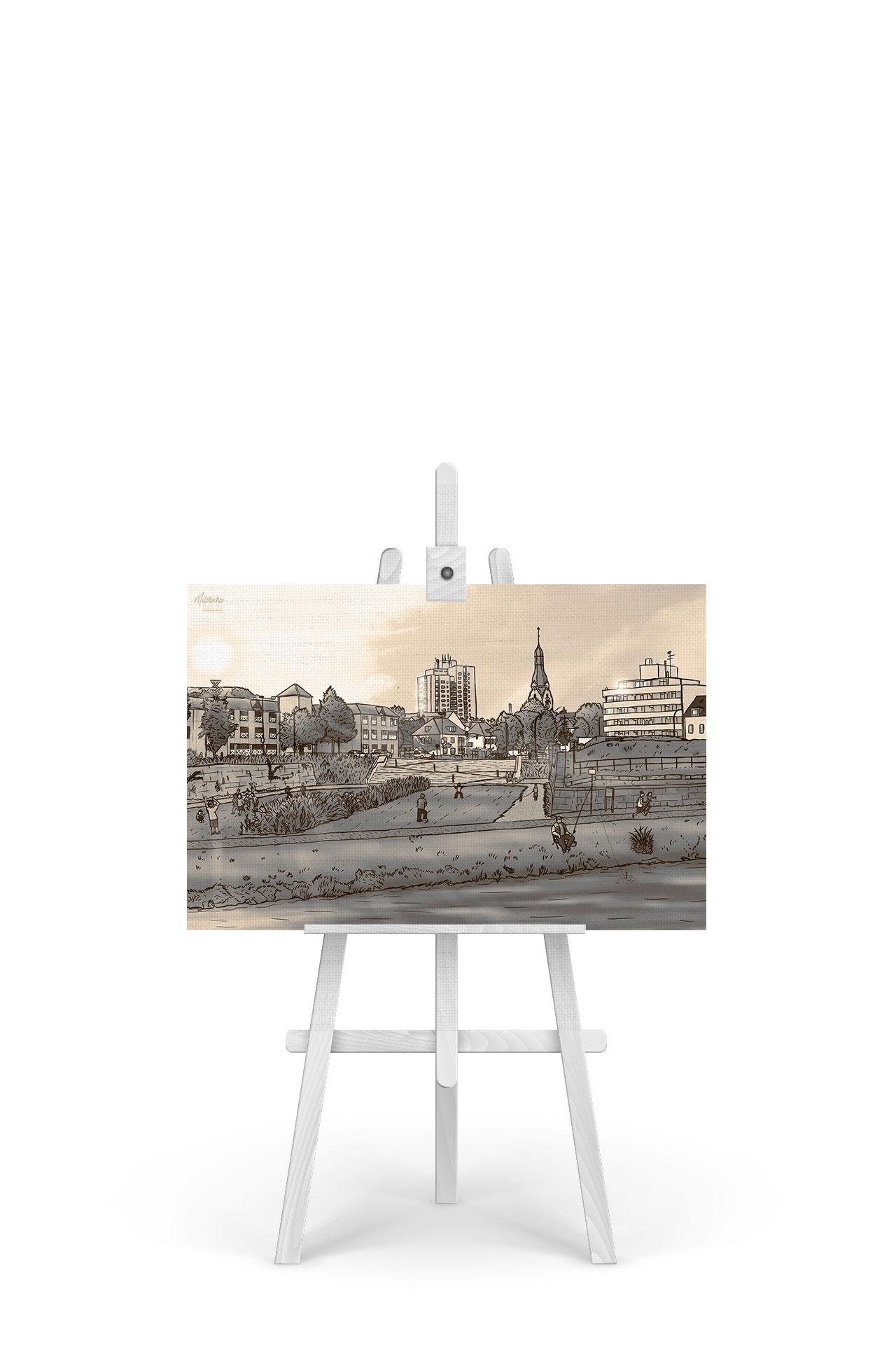 Gemälde Ravelin V Sepia
